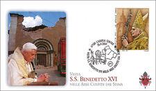 Busta Primo Giorno Papa Benedetto XVI a L'Aquila