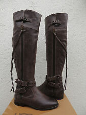 UGG COLLECTION NICOLETTA OVER THE KNEE ASH LEATHER BOOTS, US 7/ EUR 38 ~NEW