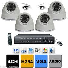 DVR 4 Stand Alone H264 - 3000TVL  + 4 Telecamere Dome IR 24  Visibile Telefonino