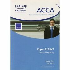 Acca Paper 2.5 Int Financial Reporting: Unit 2.5 Study Text 1, Kaplan Publishing