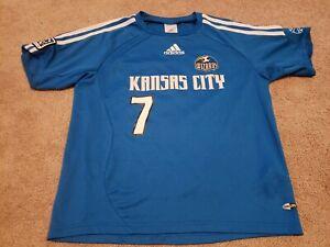 Adidas MLS Kansas City Wizards Princess #7 Blue Jersey, Size Youth S