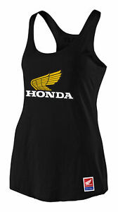 Troy Lee Designs 2021 Women's Honda Retro Victory Wing Tank Black All Sizes