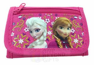 Disney Frozen Ana Elsa Sisters Tri-Fold Mini Wallet Kids Back to School Supplies