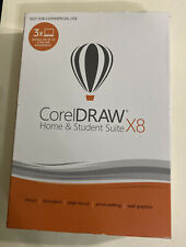 Corel CorelDRAW Home & Student Graphic Design Suite X8 3 PCs, NEW. Fast SHIPPING