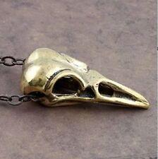 Nuevo Collar Calavera Pájaro Vintage Colgante Cadena Goth Metal Raven Crow Retro