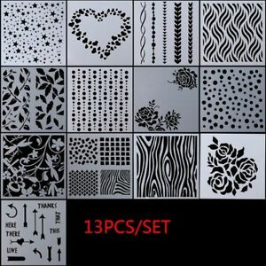 13pcs/set Walls Painting Scrapbooking Embossing Template Layering Stencils