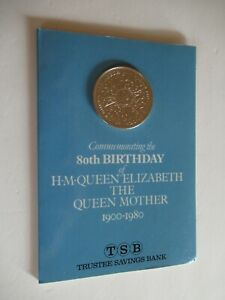 1980 Royal Mint. Queen Mother. 80th Birthday Crown. TSB Bank. Presentation Pack.