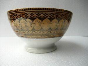 Antiguo Porcelana Cuenco Bali Patrón Marrón Villeroy & Boch Wallerfangen Germany
