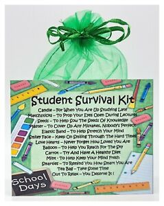 Student Survival Kit - Unique Fun Novelty Good Luck Gift & Card All In One