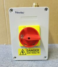 Newlec 1051042895 NLSW634PE  4 Pole 63A Insulated Enclosed Switch Disconnect
