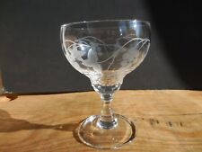 WATERFORD CRYSTAL WINE / WATER GLASS GREAT ROOM JASMINE PEARL EXCELLENT
