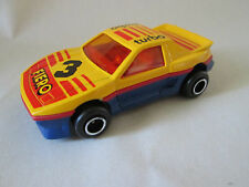 Majorette Multi-Color #3 Pontiac Fiero Turbo Car #206 Ech=1/55 France (Mint)