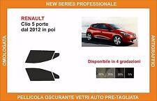 pellicola oscurante vetri renault clio 5p dal 2012 kit anteriore