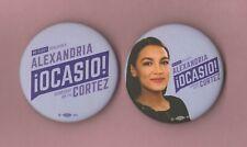 "2020(Pair) Alexandria Ocasio-Cortez  2.25"" / ""OFFICIAL"" Campaign Buttons"
