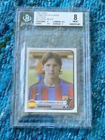2005 Panini Champ Of Europe Sticker Lionel Messi BGS 9.5, 9.5, 9, 7 (8)RC Psa
