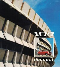 PEUGEOT 104 C Youngtimer Kleinwagen Prospekt Sales Brochure Deutschland 1975