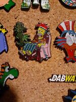 The Simpsons Homer Simpson stoner bong weed enamel lapel hat pin