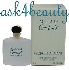 Acqua Di Gio By Giorgio Armani 0.17Oz/5ml Edt Splash Mini For Women New in Box