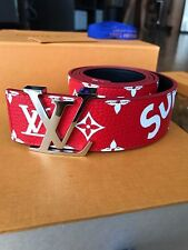 NEW Louis Vuitton x Supreme Belt Initiales 40mm RED BOGO. SZ 90 36 RECEIPT