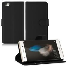 HOUSSE ETUI COQUE CUIR LUXE PORTEFEUILLE A RABAT HUAWEI P8 LITE