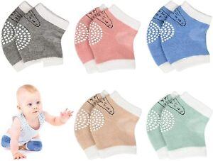 Baby Crawling Anti-Slip Knee Pads,Unisex Baby Toddlers Kneepads Leg Warmer 5 Pcs