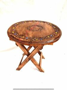 Coffee Table Patio Garden And Outdoor Furniture Round Top Folding Table - Brown