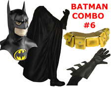 BATMAN 1989 1992 Michael Keaton costume mask, cape, gloves, yellow utility belt