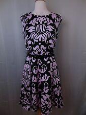 INC International Concepts Sleeveless Printed Belted Sheath Dress Size 10 #294