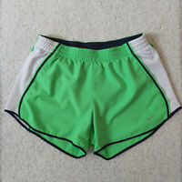 NIKE Women's Green Navy Running Athletic Shorts Gym Lined Size Small