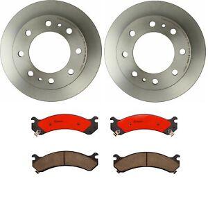Brembo Front Brake Kit Ceramic Pads Disc Rotors for Silverado Sierra Hummer H2
