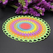 6pcs Circle Card Metal Cutting Dies Stencil DIY Scrapbooking Emboss Craft Decor