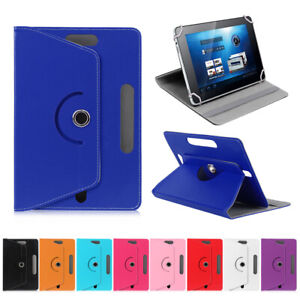 """360° Rotate Stand Leather Flip Case Cover Fits Amazon, Dell, Honor 7"""" 10"""" Tablet"""