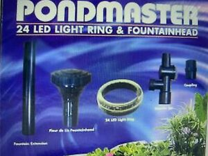 Pondmaster 24 LED Ring Light with Fountainhead