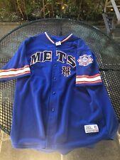 Vintage Authentic Majestic Johan Santana New York Mets Throwback Jersey VTG 2Xl