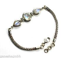 Armband aus Silber mit echtem Mondstein / Sterlingsilber 925 / Handarbeit 1A