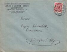 LUCKENWALDE, Briefumschlag 1924, Julius & Albert Hirsch Bronzewaren-Fabrik
