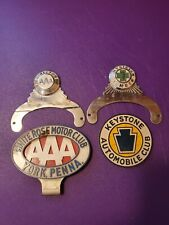 AAA Motor Club Director &  Physician Metal Emblems And 2 Extra Auto Club Emblems
