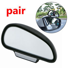 1 Pair Side/Rear View Mirrors Blind Spot Mirror Adjustable Wide Angle BLACK Car