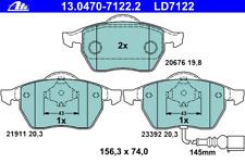 Bremsbelagsatz Scheibenbremse ATE Ceramic - ATE 13.0470-7122.2
