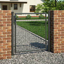 Gartentor Gartentür Tür Hoftor Zauntor Einfahrtstor Pfosten verzinkt 100x87 cm