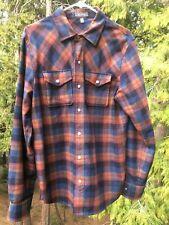 Ibex Men's Taos Shirt Wool Blend Medium Plaid