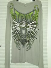 NWT! TAPOUT LONG SLEEVE COTTON SHIRT - YOUNG MENS SIZE XL - Cement/Gray