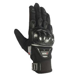 Motorradhandschuhe Sommer Motorrad Handschuhe Quadhandschuhe Schwarz XS-2XL