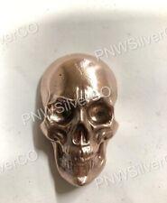 6.5+ oz Hand Poured Skull - 999 Fine - Art Collectible Copper Bullion