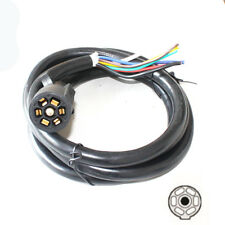 7 Way 8FT Blade Molded Trailer Camper Power Cord Wire Plug Connector Cable RV