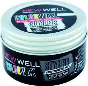New Well Silver Hair Colour Wax Temporary Dye Styling Cream Wax 100ml