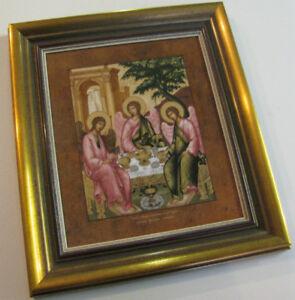 Die heilige Dreifeltigkeit - Limitiert - Porzellan Ikone -