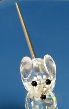 "Swarovski crystal mouse mini wire tail, no logo, 1"" long"