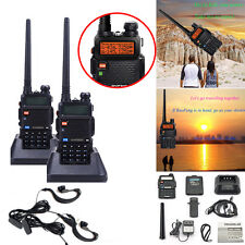2pcs BaoFeng UV-5R 136-174/400-520 MHz Dual-Band DCS DTMF CTCSS FM Two Way Radio