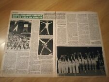 Nadia Comaneci 2 pages pinup clipping from magazine / 36